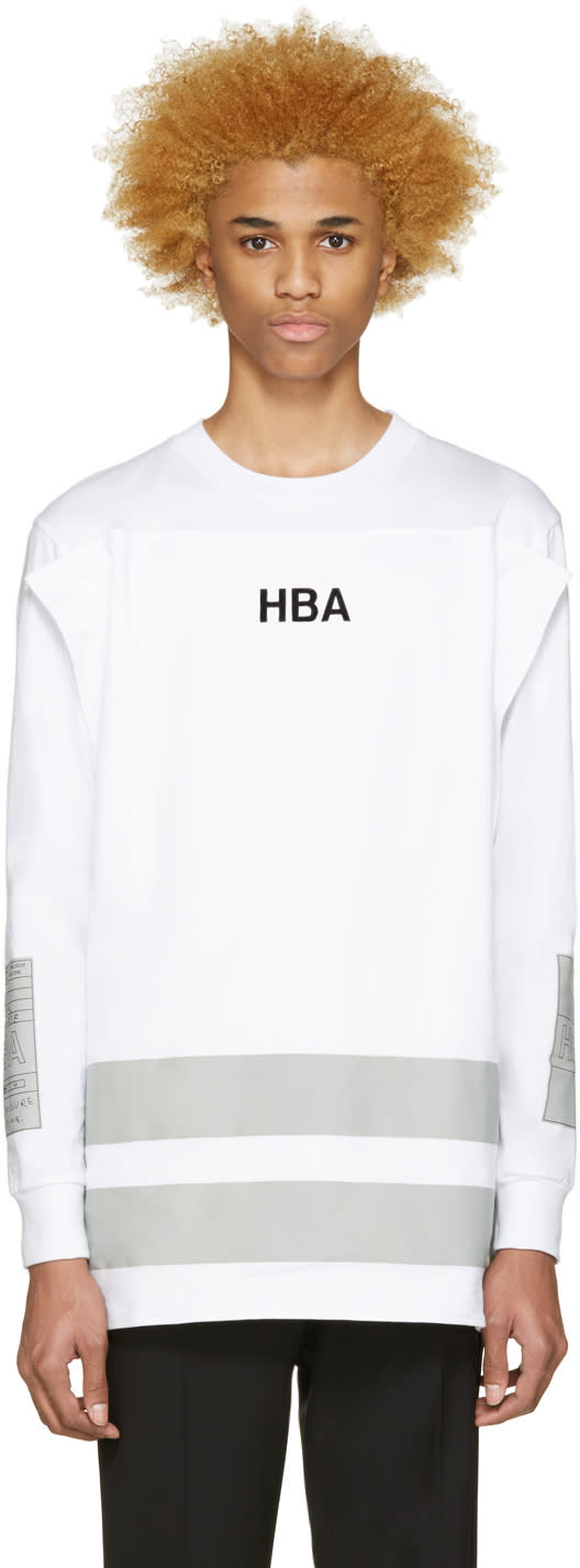 Hood By Air White Jock Squared T-shirt
