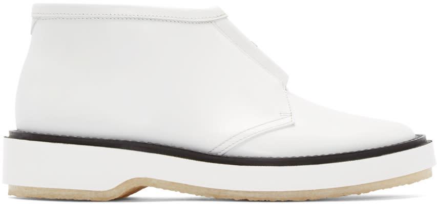 Adieu White Leather Type 3 Boots