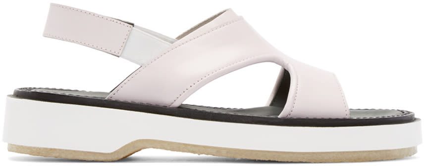 Image of Adieu Pink Leather Type 43 Sandals