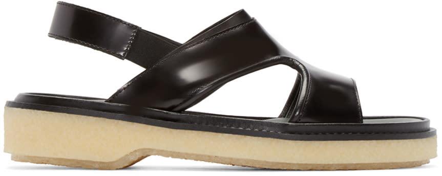Adieu Black Leather Type 43 Sandals