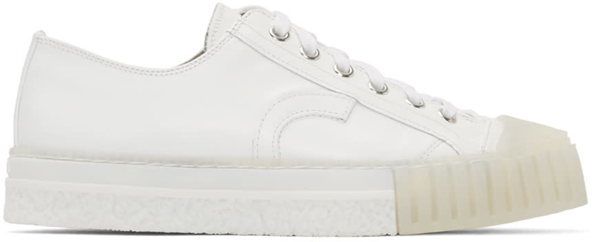 Adieu White Leather Type W.o. Sneakers