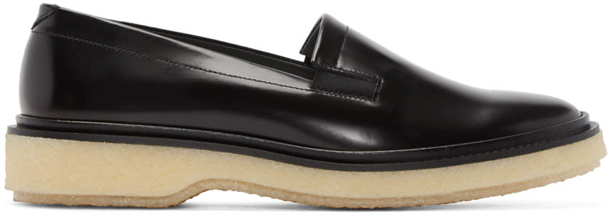 Adieu Black Leather Type 58 Loafers