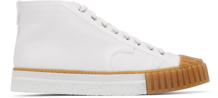 Adieu White Canvas Type W.o. High-top Sneakers