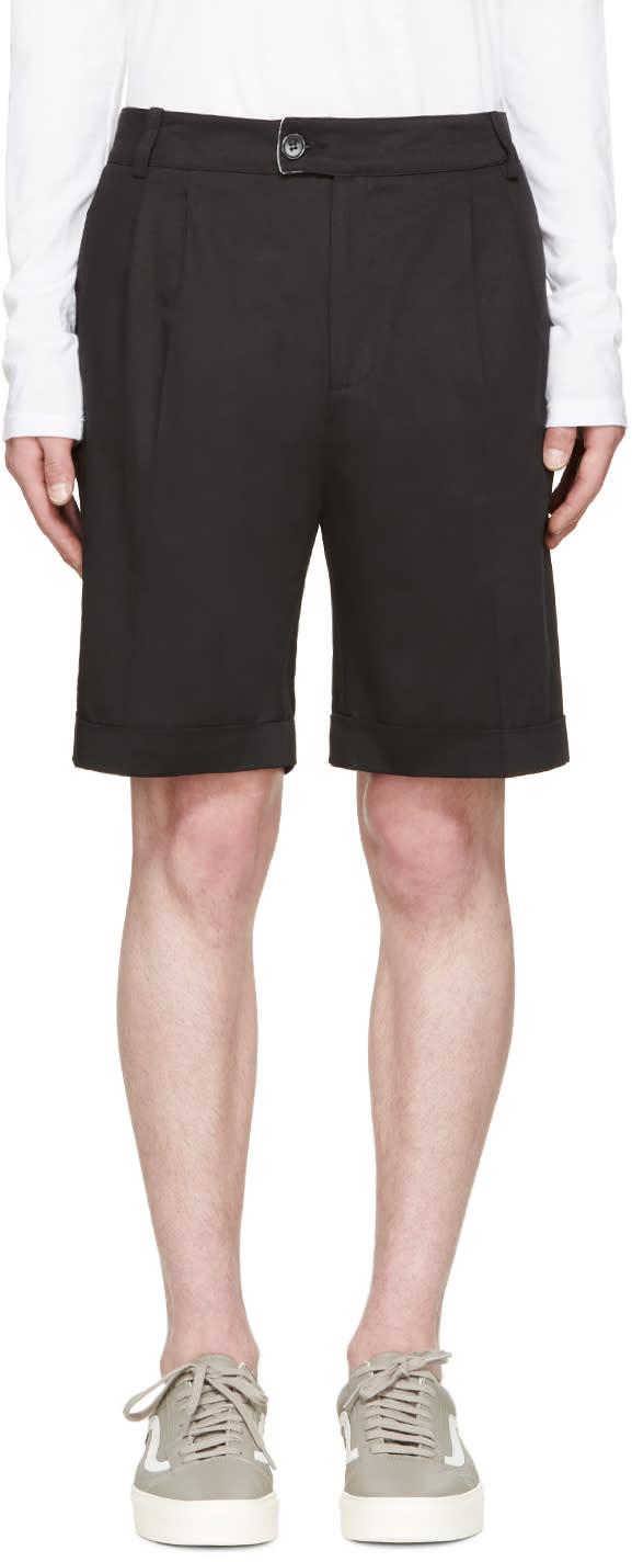 Giuliano Fujiwara Black Twill Shorts