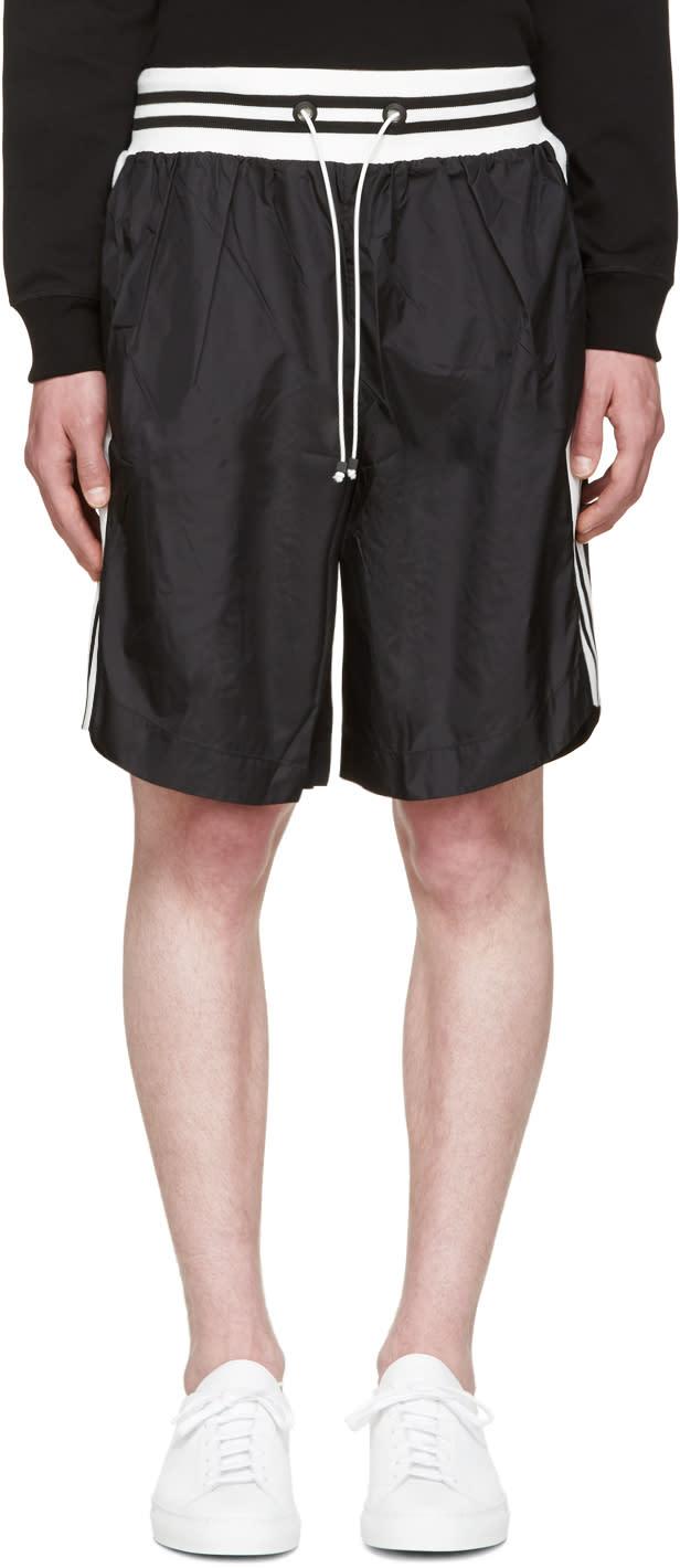 Image of Giuliano Fujiwara Black Striped Basket Shorts