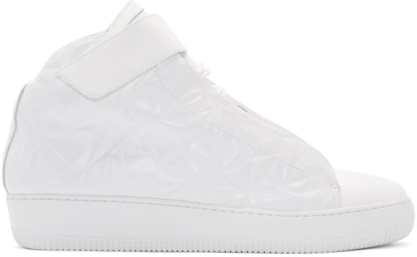 Giuliano Fujiwara White Embossed A3 High-top Sneakers