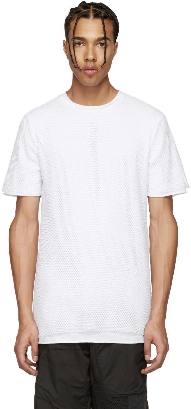 Image of Alexandre Plokhov White Layered Mesh T-shirt