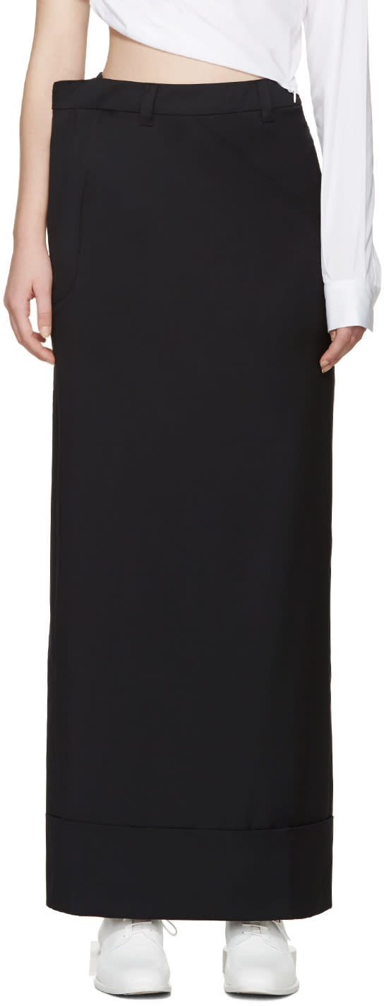 Jacquemus Navy Wool Skirt