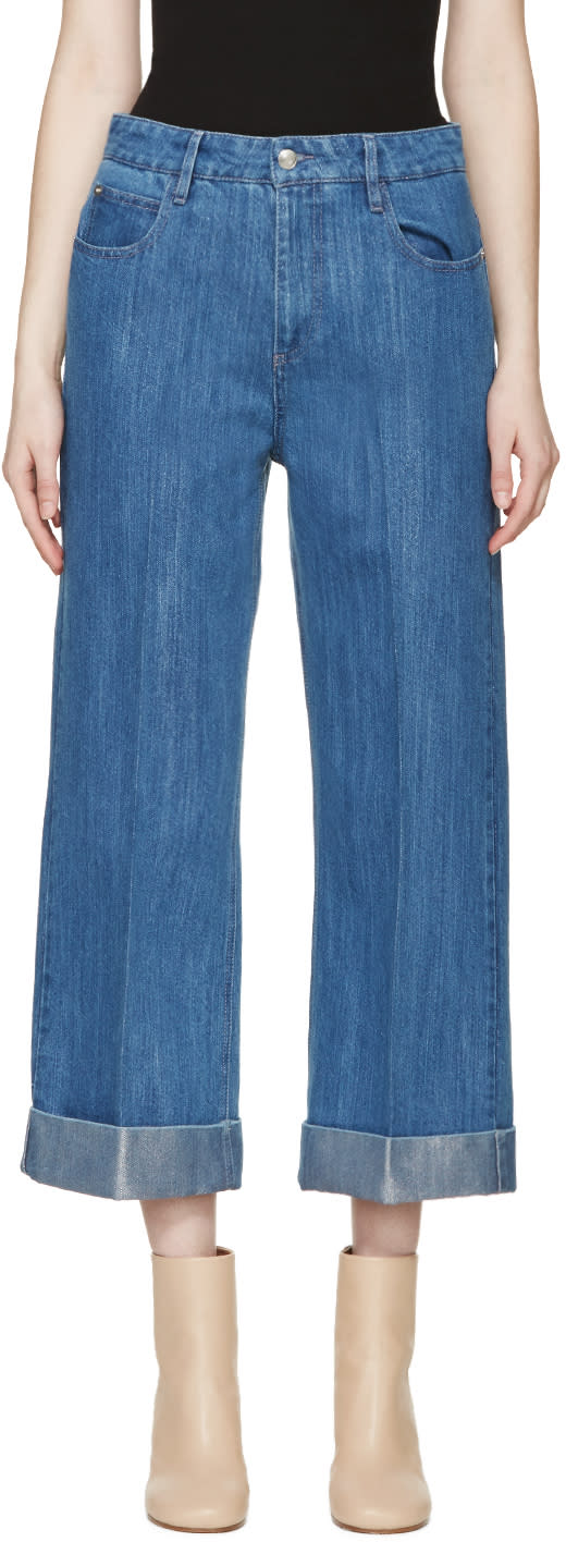 Each X Other Blue Wide-leg Jeans
