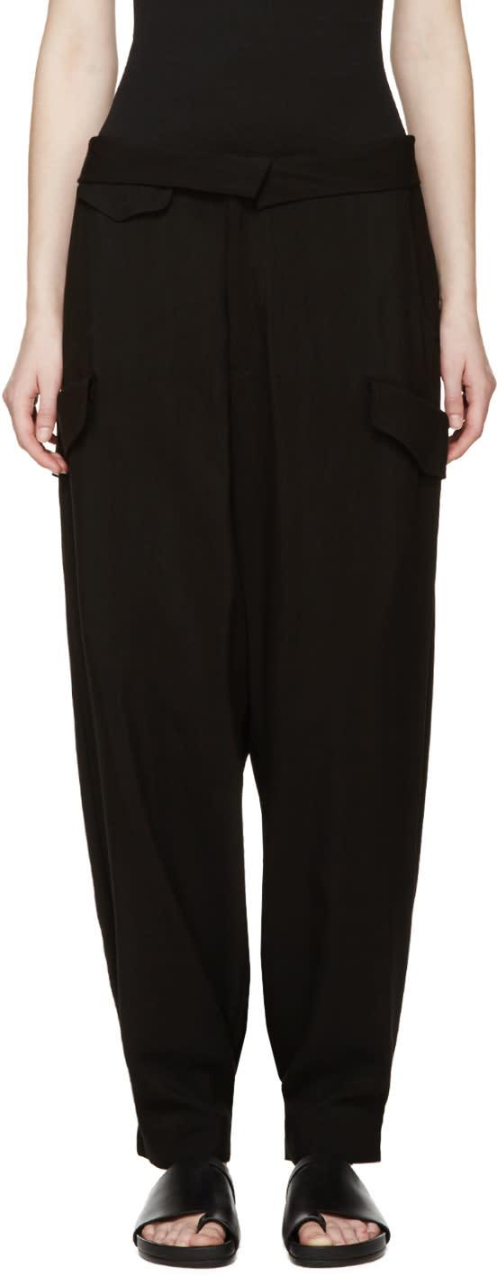 Yohji Yamamoto Black Wide-leg Trousers