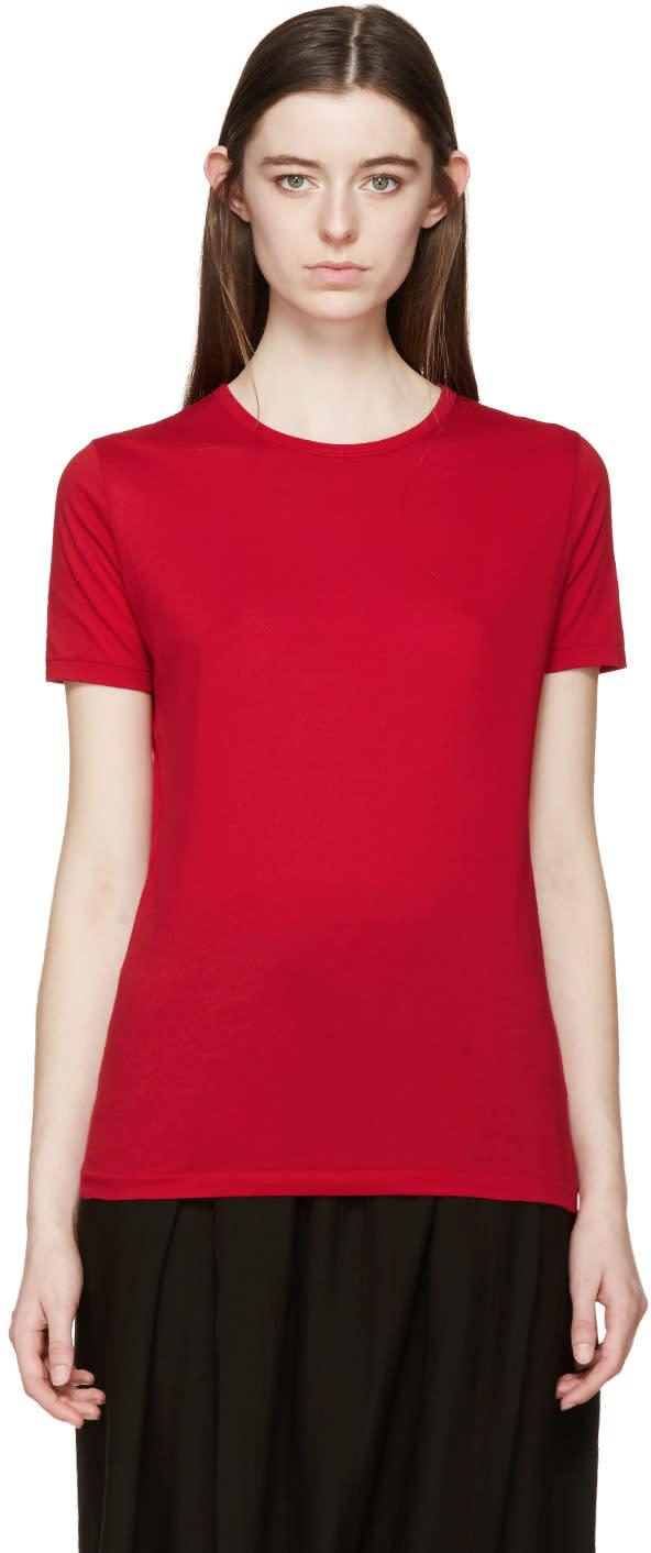Yohji Yamamoto Red Akahori T-shirt