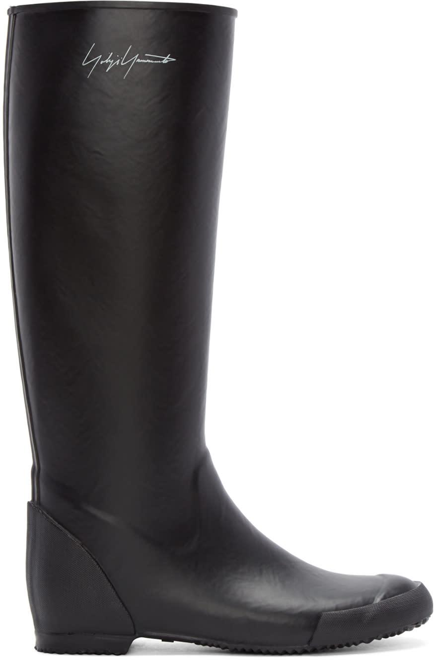 Yohji Yamamoto Black Rain Boots