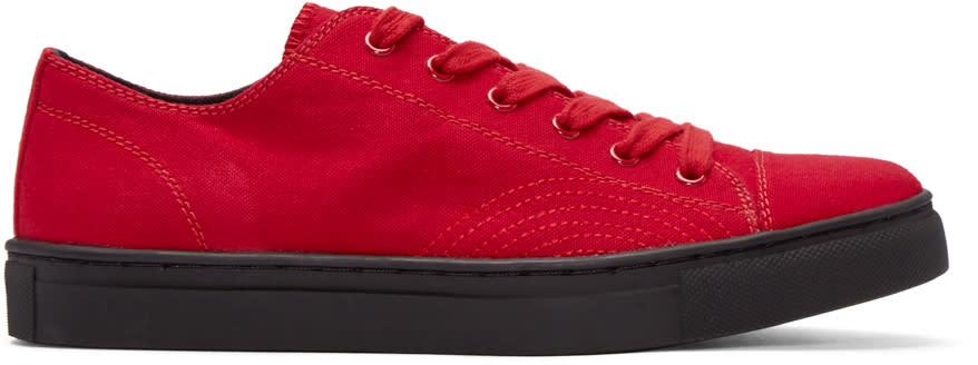 Yohji Yamamoto Red Canvas No. 8 Sneakers