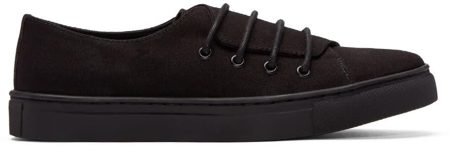 Yohji Yamamoto Black Canvas No. 9 Sneakers