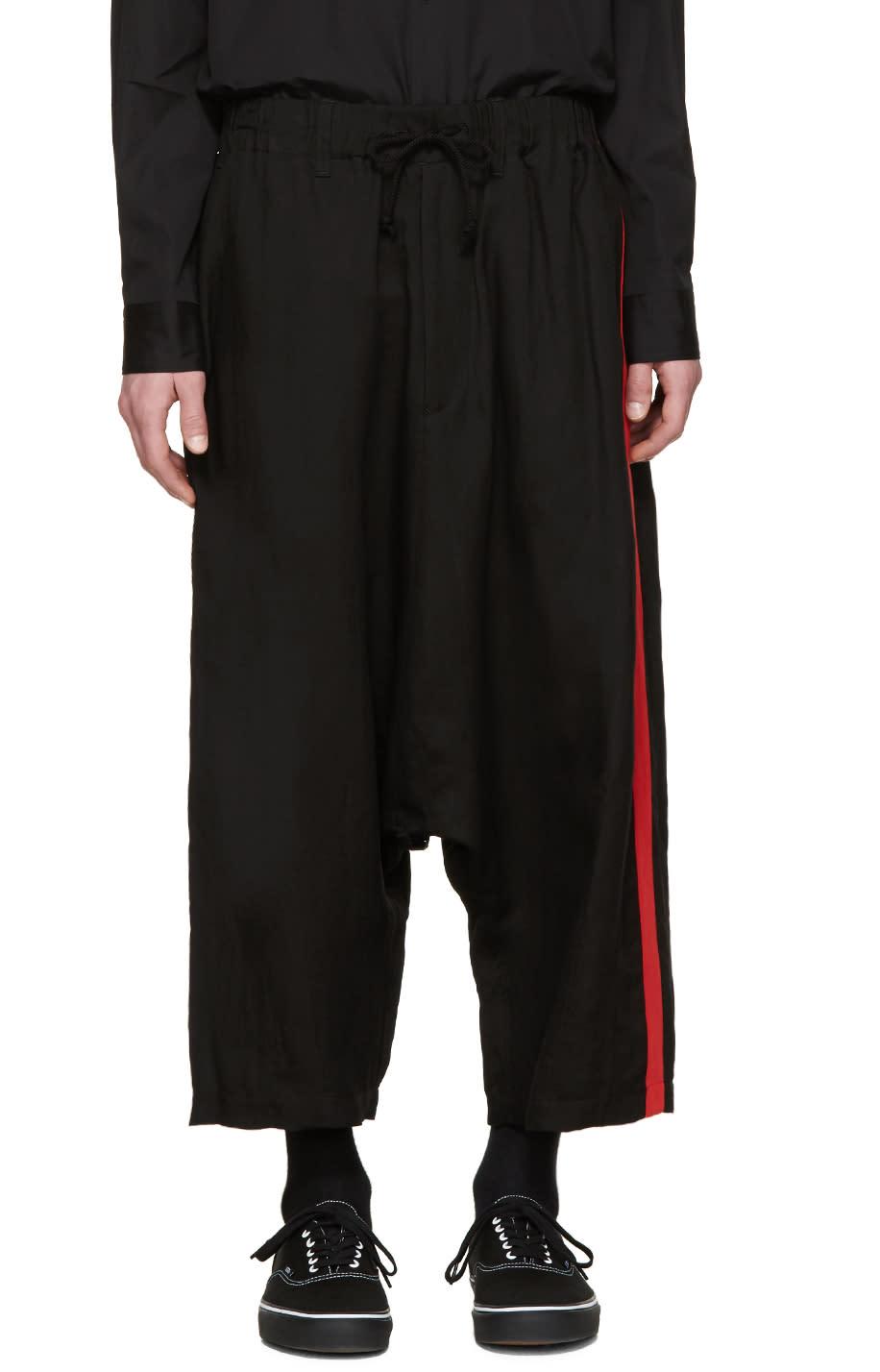 Yohji Yamamoto Black Striped Sarouel Trousers