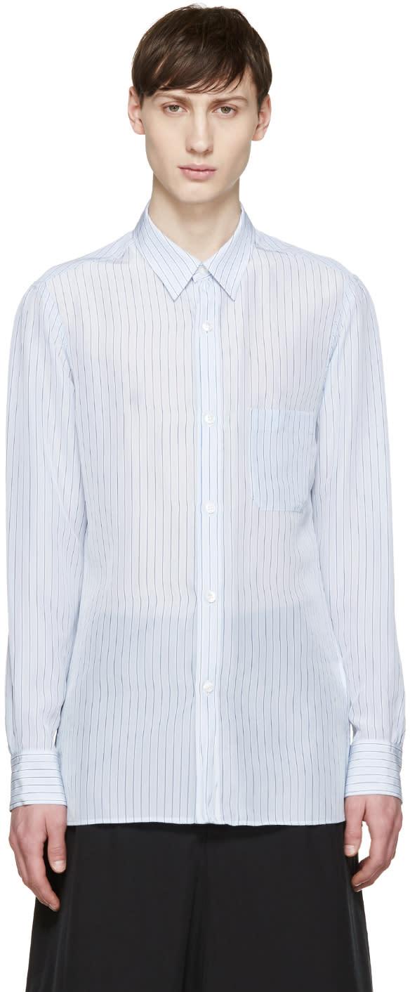 Yohji Yamamoto Blue Striped Shirt