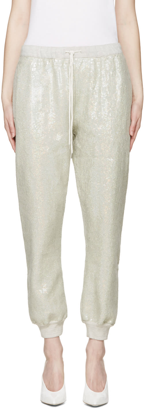 Image of Ashish Green Sequin Lounge Pants