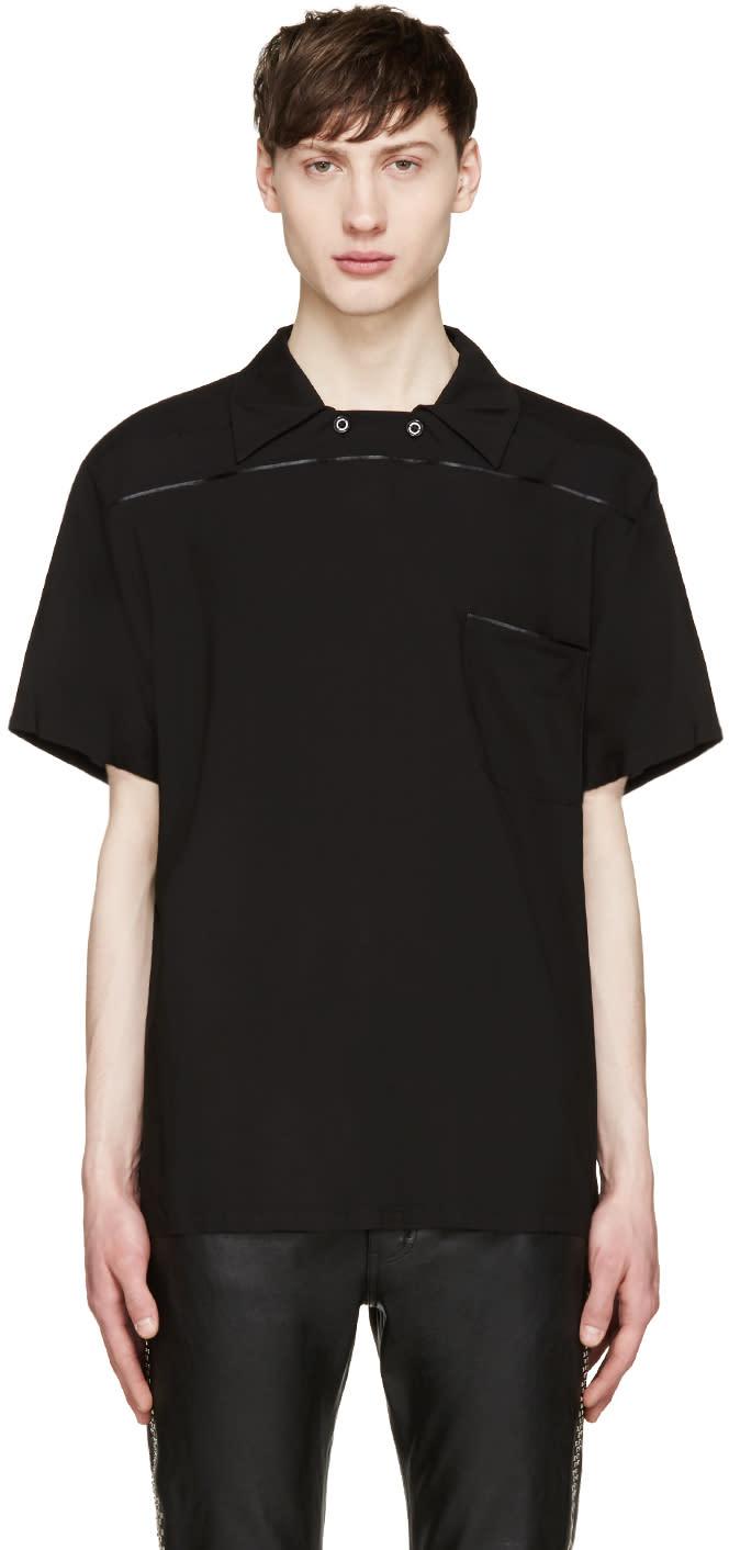 Christian Dada Black Pullover Polo