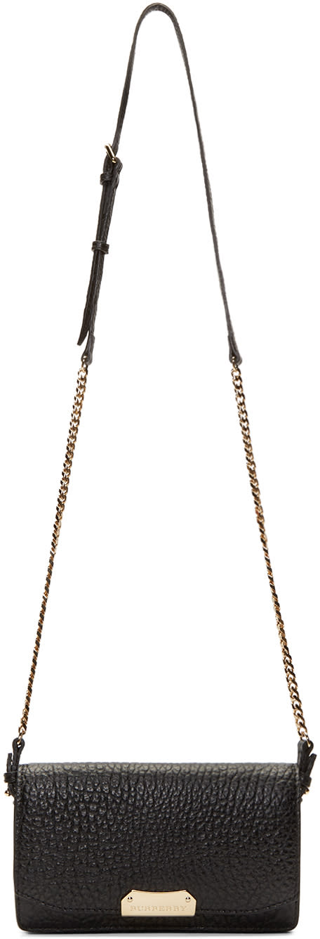 Burberry London Black Leather Chain Shoulder Bag