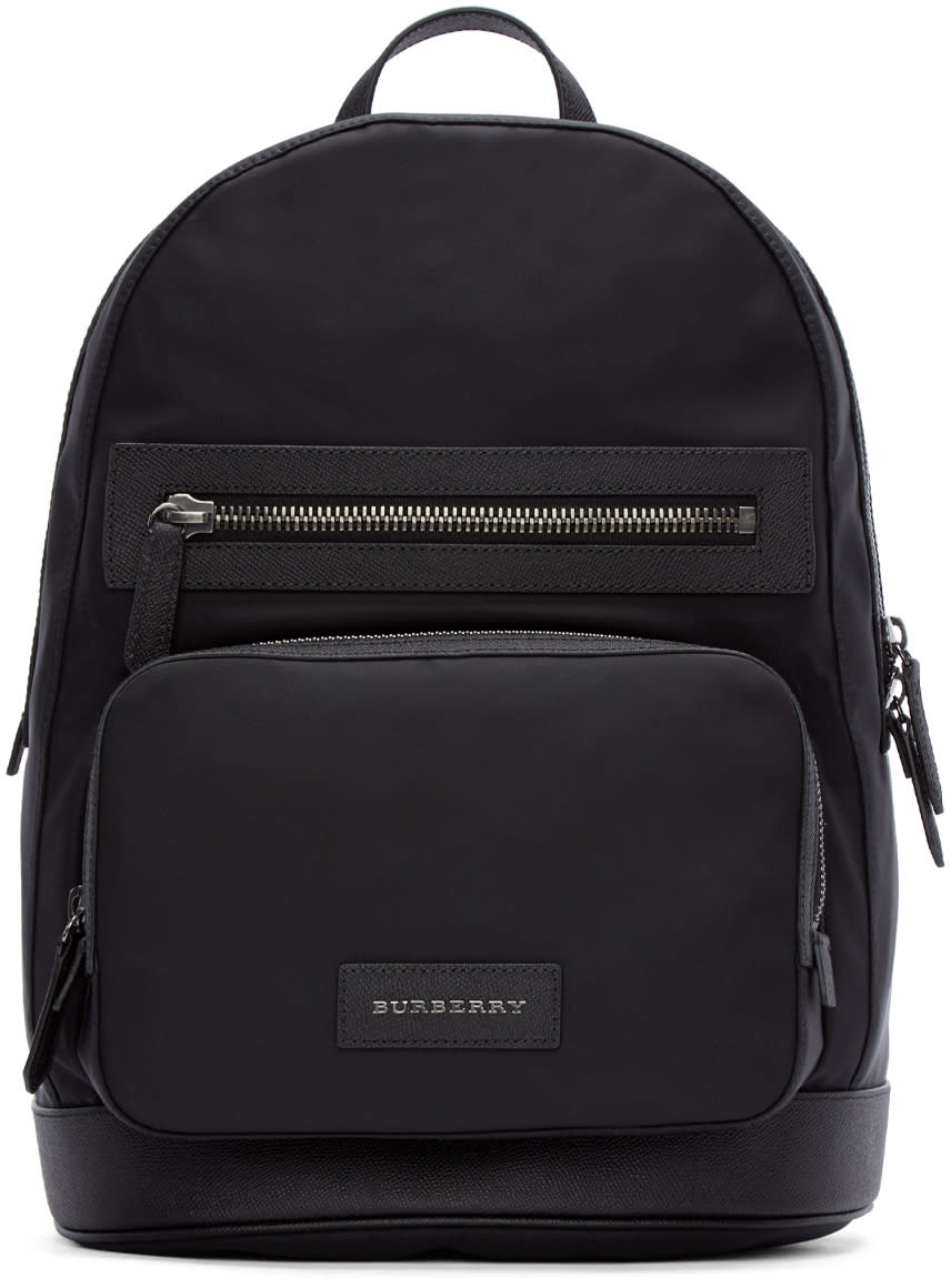 Burberry London Black Nylon Marden Backpack