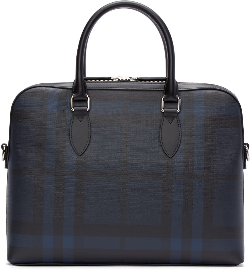 Burberry London Black and Blue Check Bermondsey Briefcase