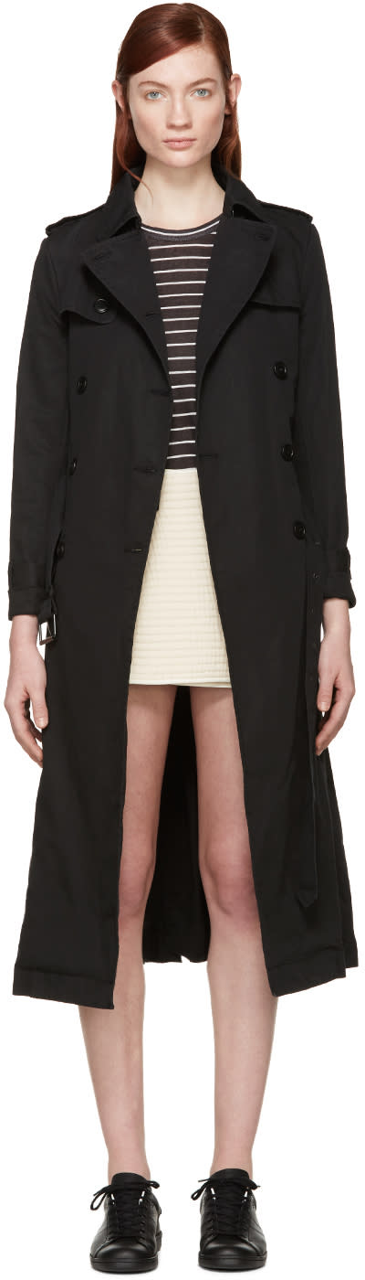 Isabel Marant Etoile Black Maden Trench Coat