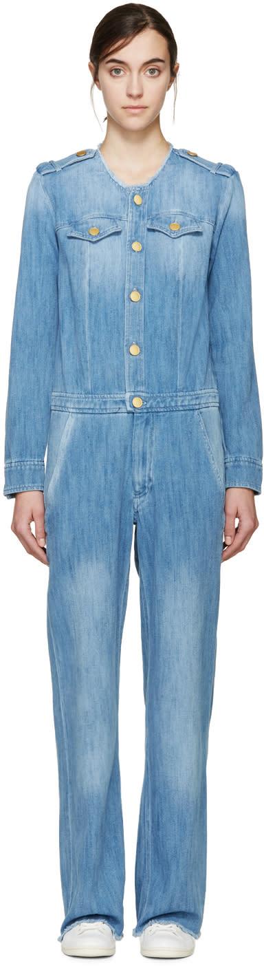 Isabel Marant Etoile Blue Denim Ojima Jumpsuit