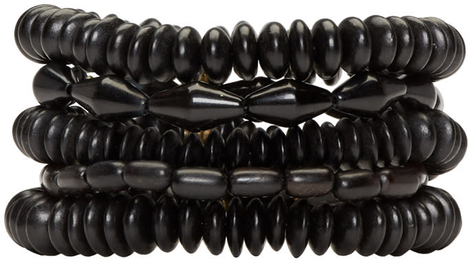 Isabel Marant Black Multi-strand Berbere Bracelet