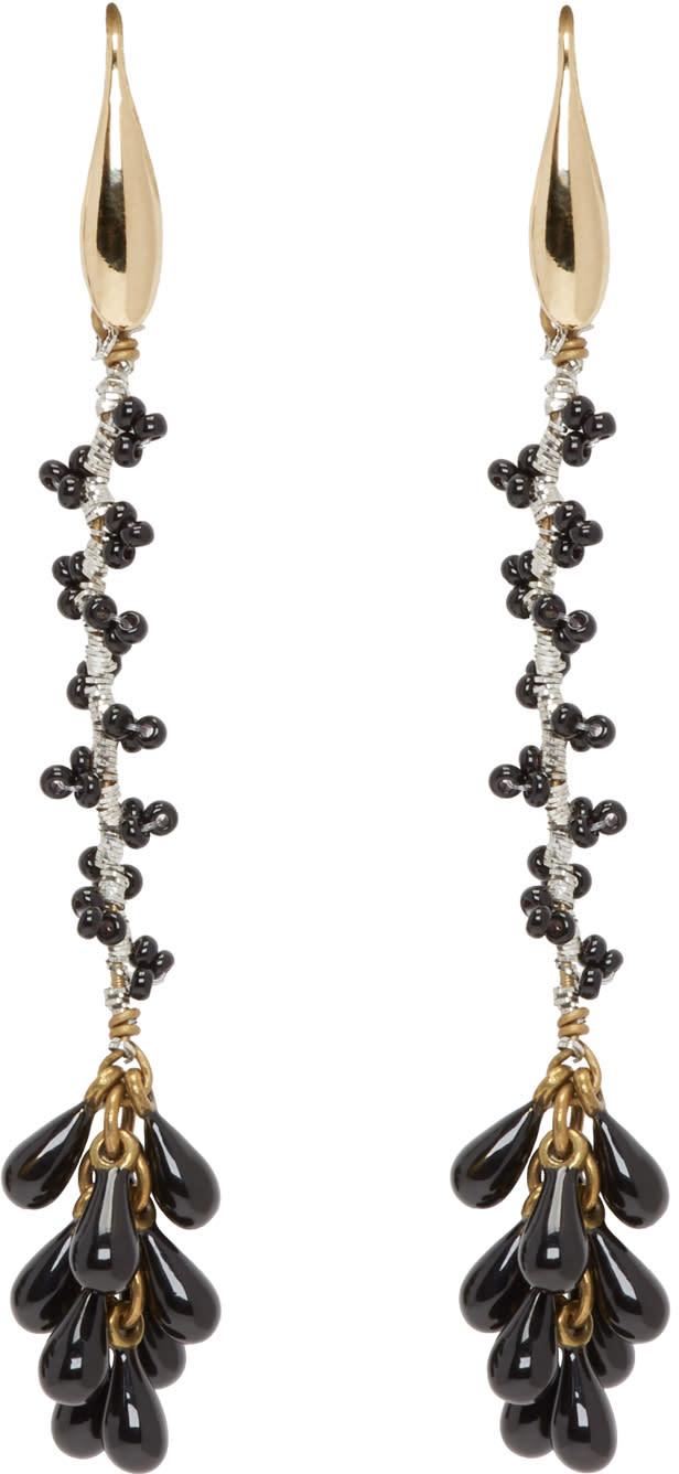 Isabel Marant Black Tanger Drop Earrings
