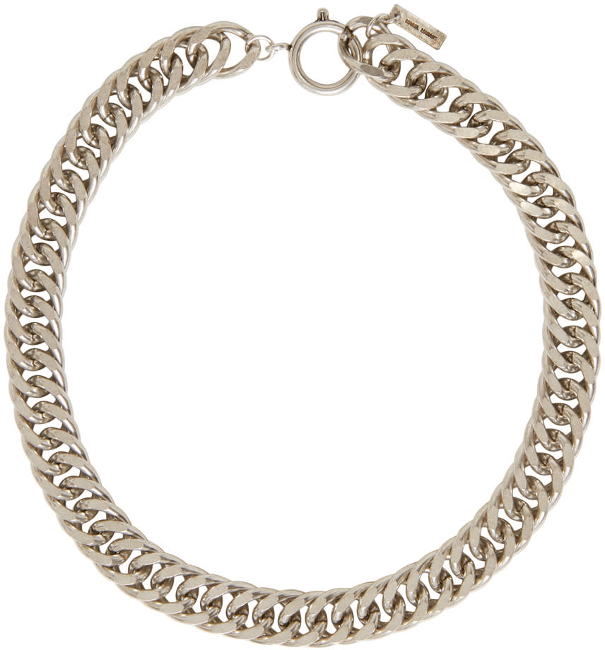 Isabel Marant Silver Chain Matazz Necklace