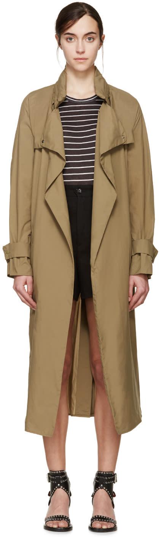Isabel Marant Khaki Nylon Garnett Trench Coat