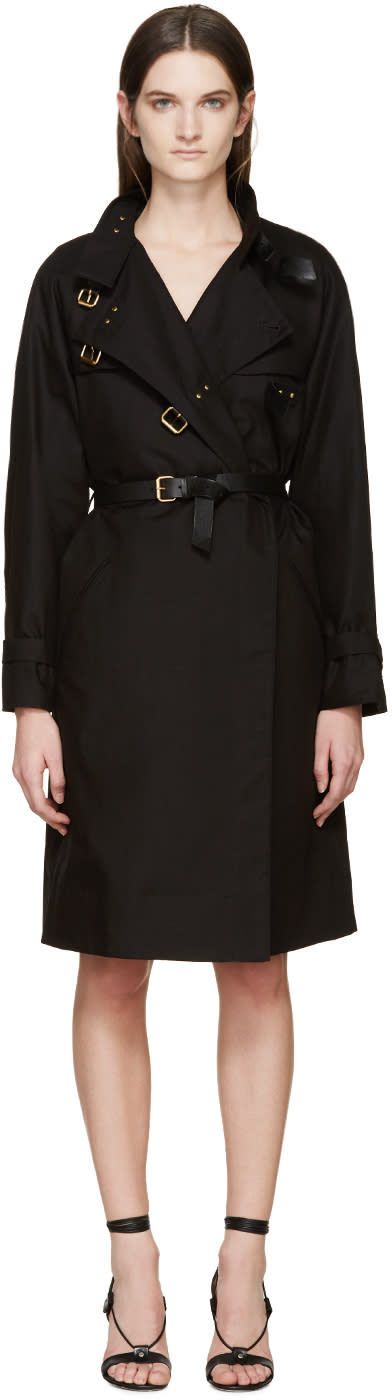 Isabel Marant Black Canvas Hanya Trench Coat