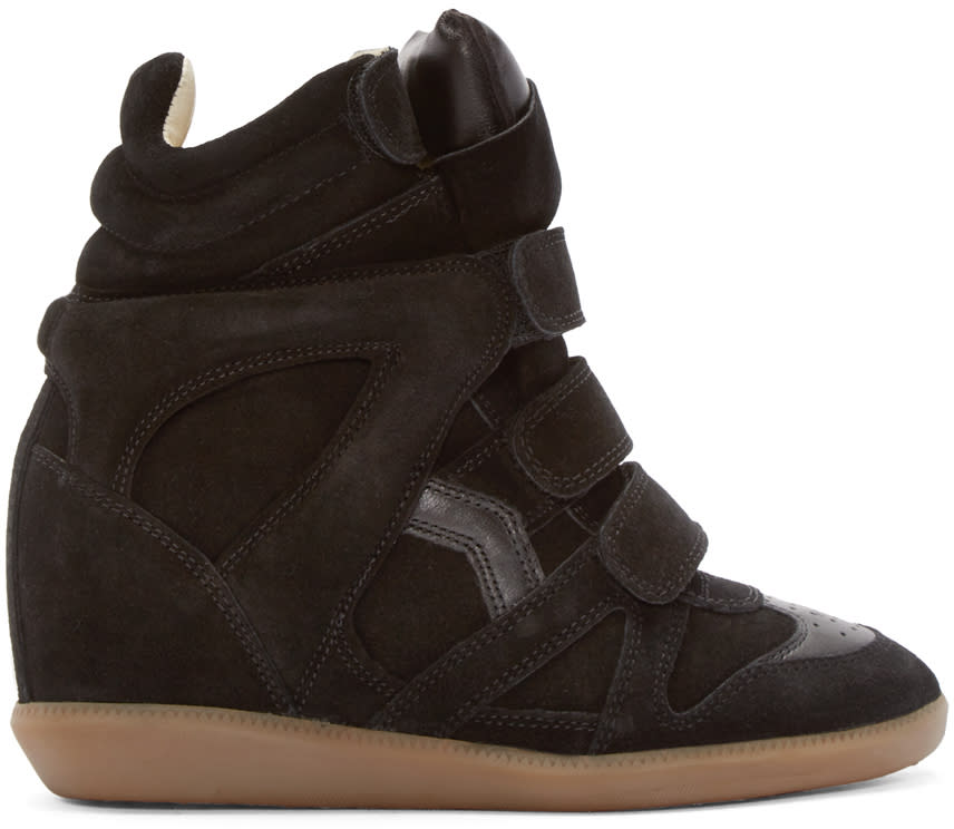 Isabel Marant Black Bekett Wedge Sneakers