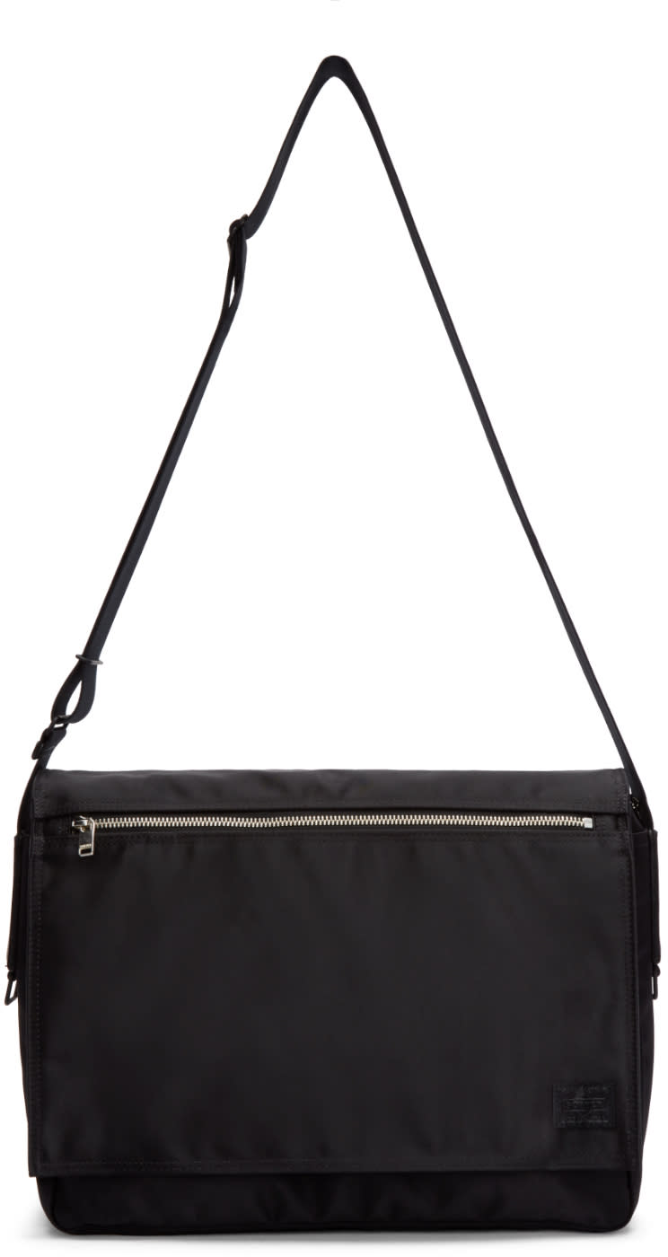 Porter Black Nylon Lift Messenger Bag