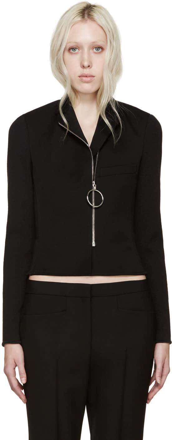 Paco Rabanne Black Rib Knit Jacket