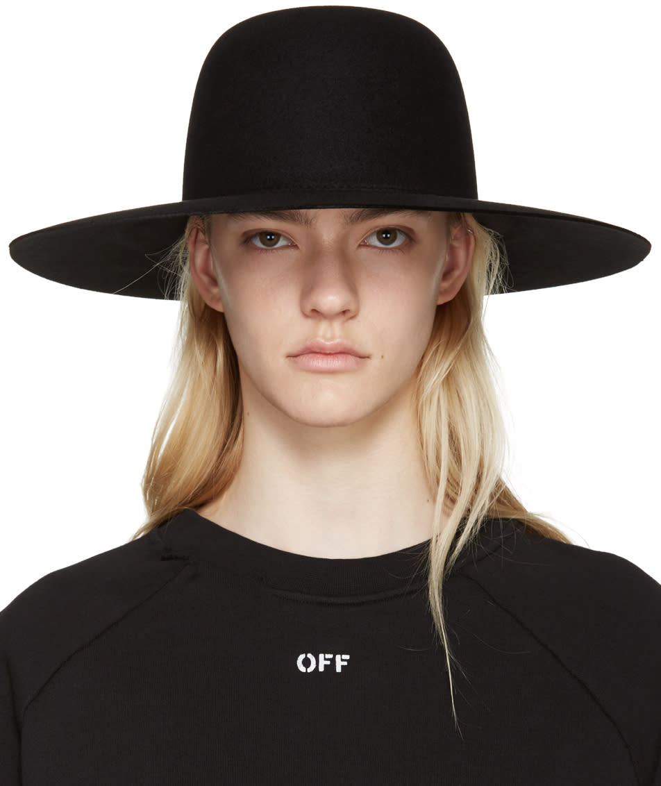 Off-white Black Wide-brim Hat