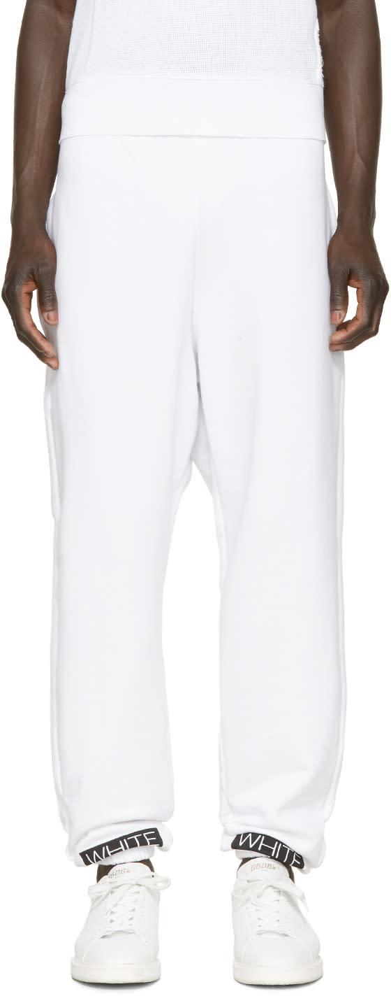 Off-white White and Orange Box Lounge Pants