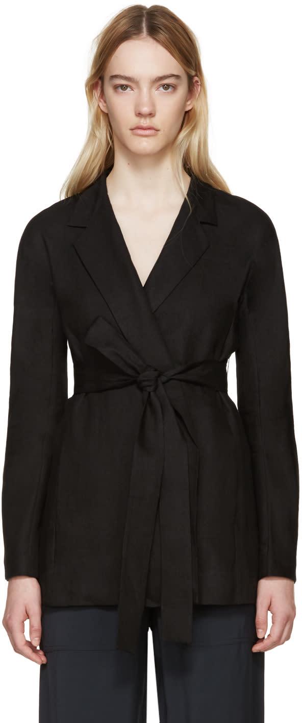 Studio Nicholson Black Linen Flamino Jacket