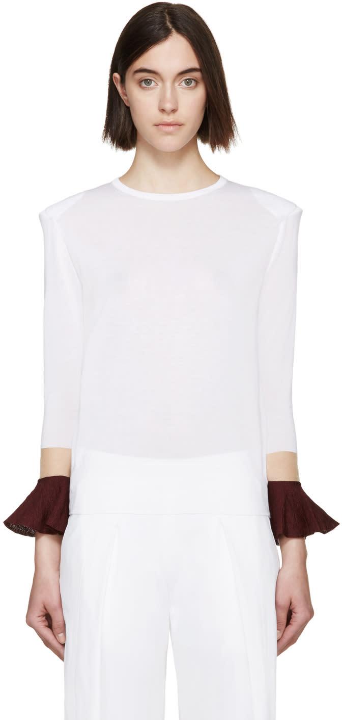 Toga White Floating Sleeve Sweater