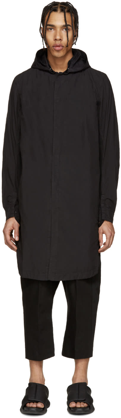 11 By Boris Bidjan Saberi Black Long Windbreaker