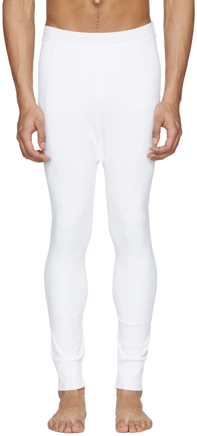 11 By Boris Bidjan Saberi White Reflective Leggings