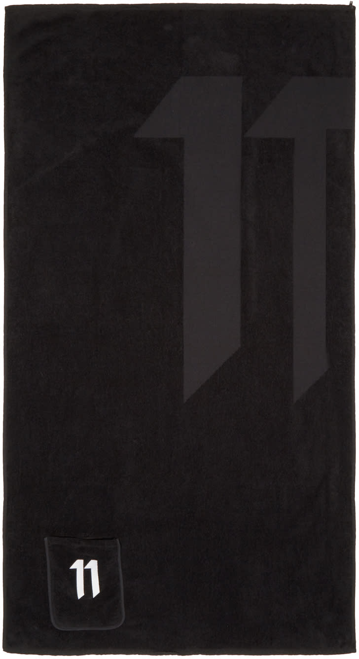 11 By Boris Bidjan Saberi Black Logo Stashing Towel
