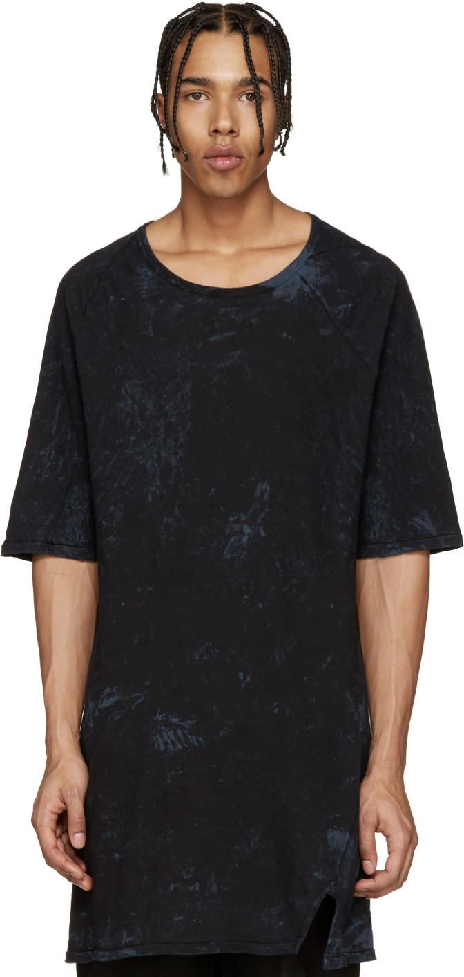 11 By Boris Bidjan Saberi Blue Marbled Knit Mesh T-shirt