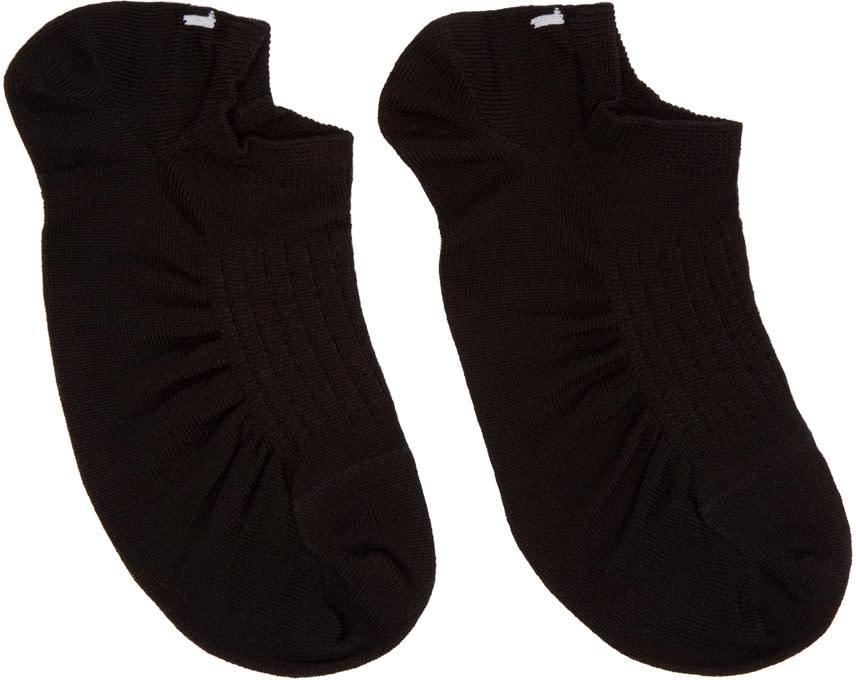 11 By Boris Bidjan Saberi Black Ankle Sport Socks
