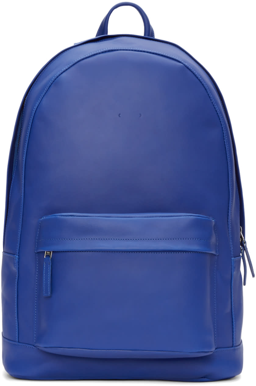 Pb 0110 Blue Leather Ca 6 Backpack