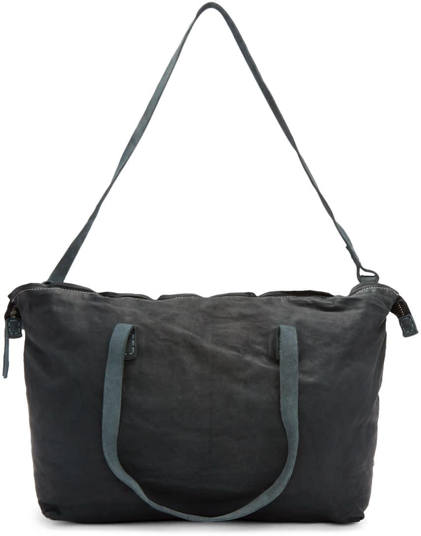 8d16ab8d76d Boris Bidjan Saberi Blue Kangaroo Leather Duffle Bag