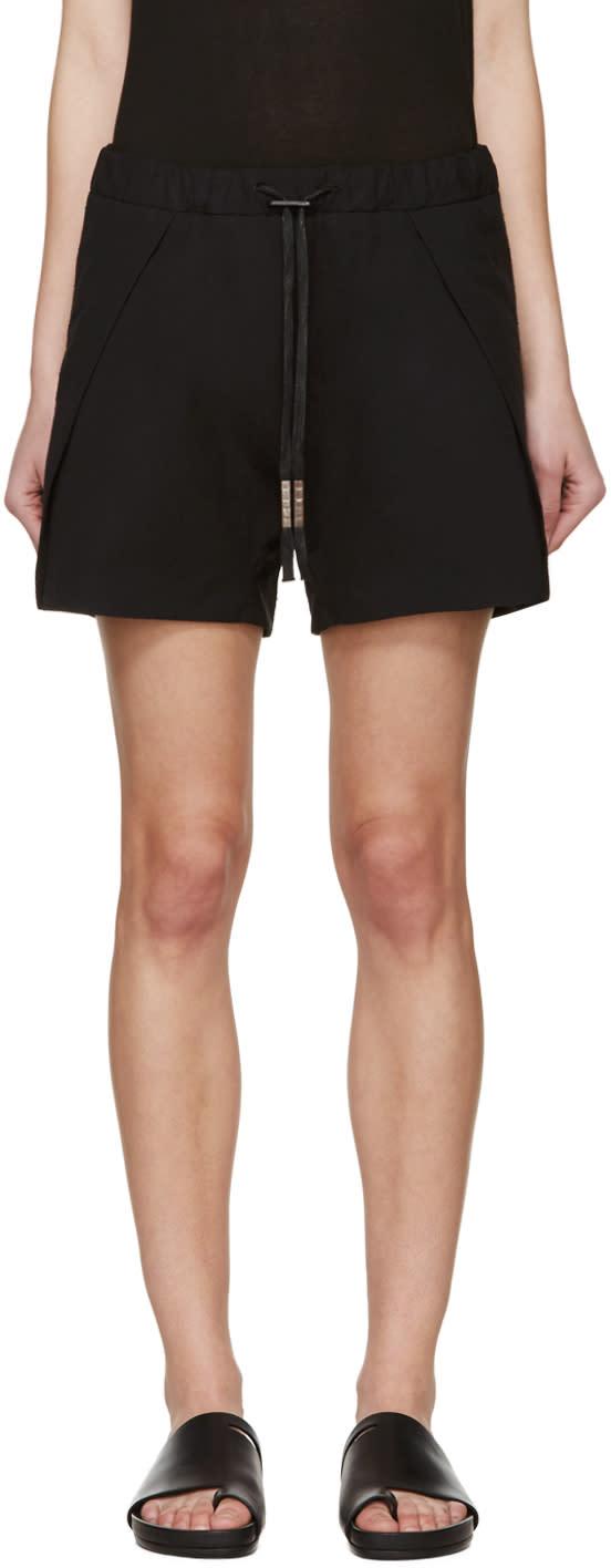 Boris Bidjan Saberi Black Drawstring Shorts
