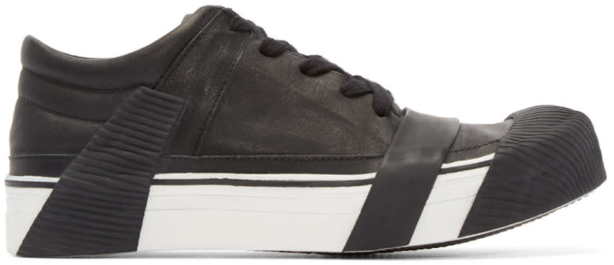 Boris Bidjan Saberi Black Leather Bamba 3 Sneakers