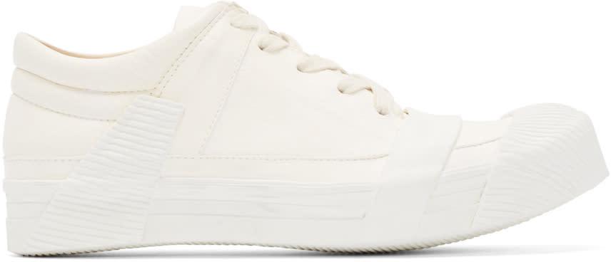 Boris Bidjan Saberi Cream Leather Bamba 3 Sneakers