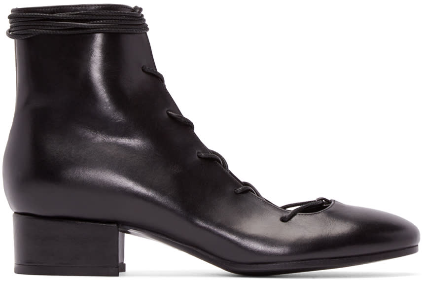 Carritz Black Lace-up Oona Boots